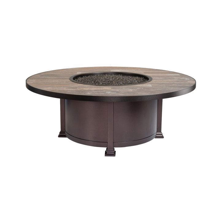 OW Lee Casual Fireside 54″ Round Santorini Occasional Height Fire Pit