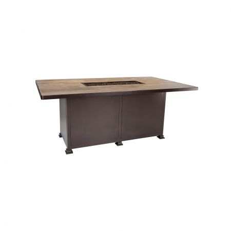 OW Lee Casual Fireside 72X42 Rectangular Santorini Dining Height Fire Table