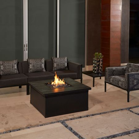 OW Lee Creighton 3 Piece Sectional Shown With Lounge Chair, Fire Pit And Sectional End Table