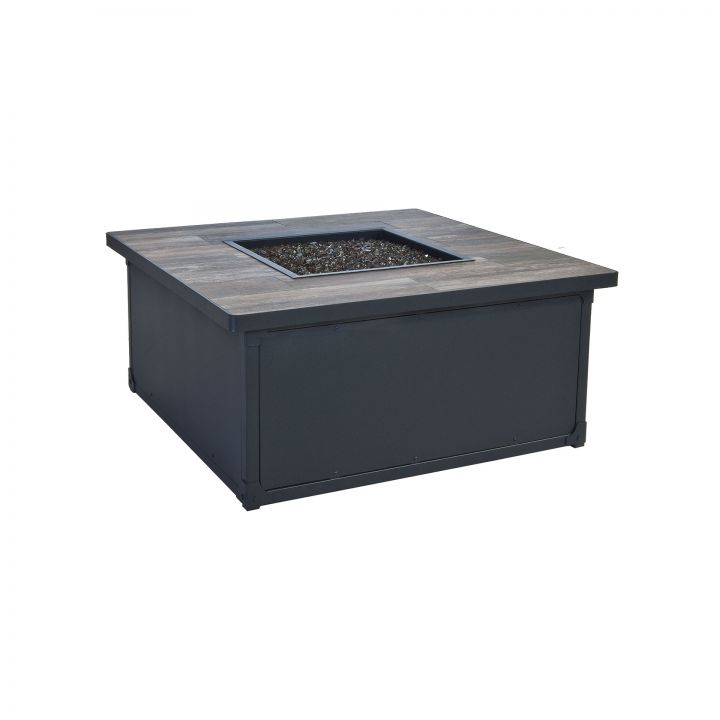 OW Lee Casual Fireside 42″ Square Creighton Occasional Height Fire Pit