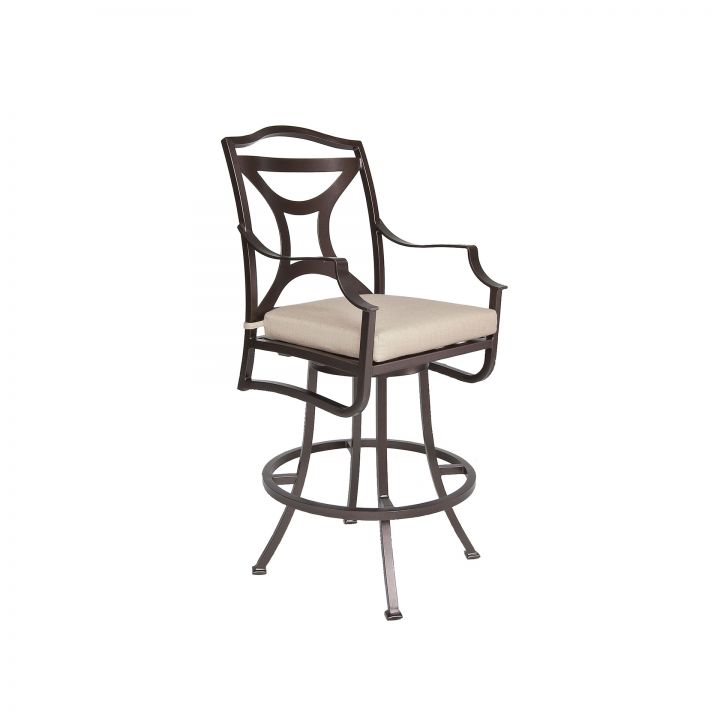 OW Lee Madison Swivel Bar Stool With Arms