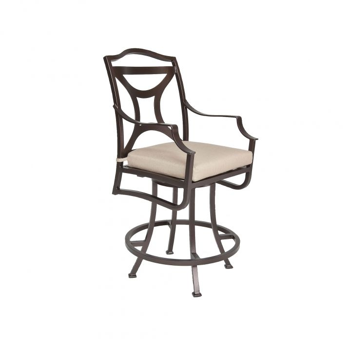 OW Lee Madison Swivel Counter Stool With Arms