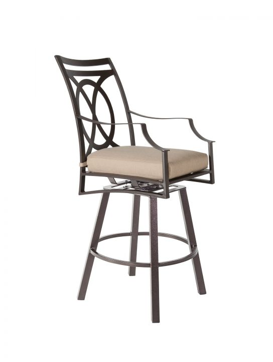 OW Lee Altura Swivel Counter Stool with Arms