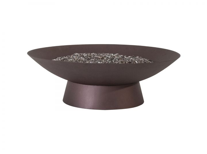 OW Lee Casual Fire Side 36″ Round Basso Occassional Height Fire Pit