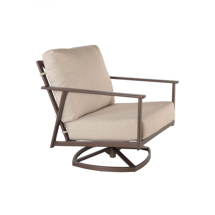 OW Lee Marin Cushion Swivel Rocker Lounge Chair