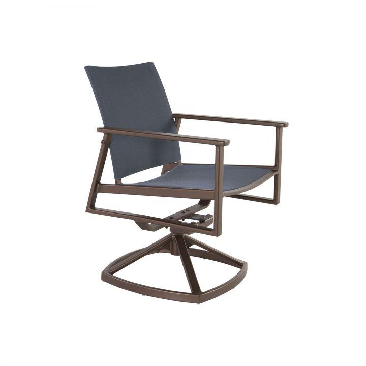 OW Lee Marin Flex Comfort Sling Swivel Rocker Dining Arm Chair