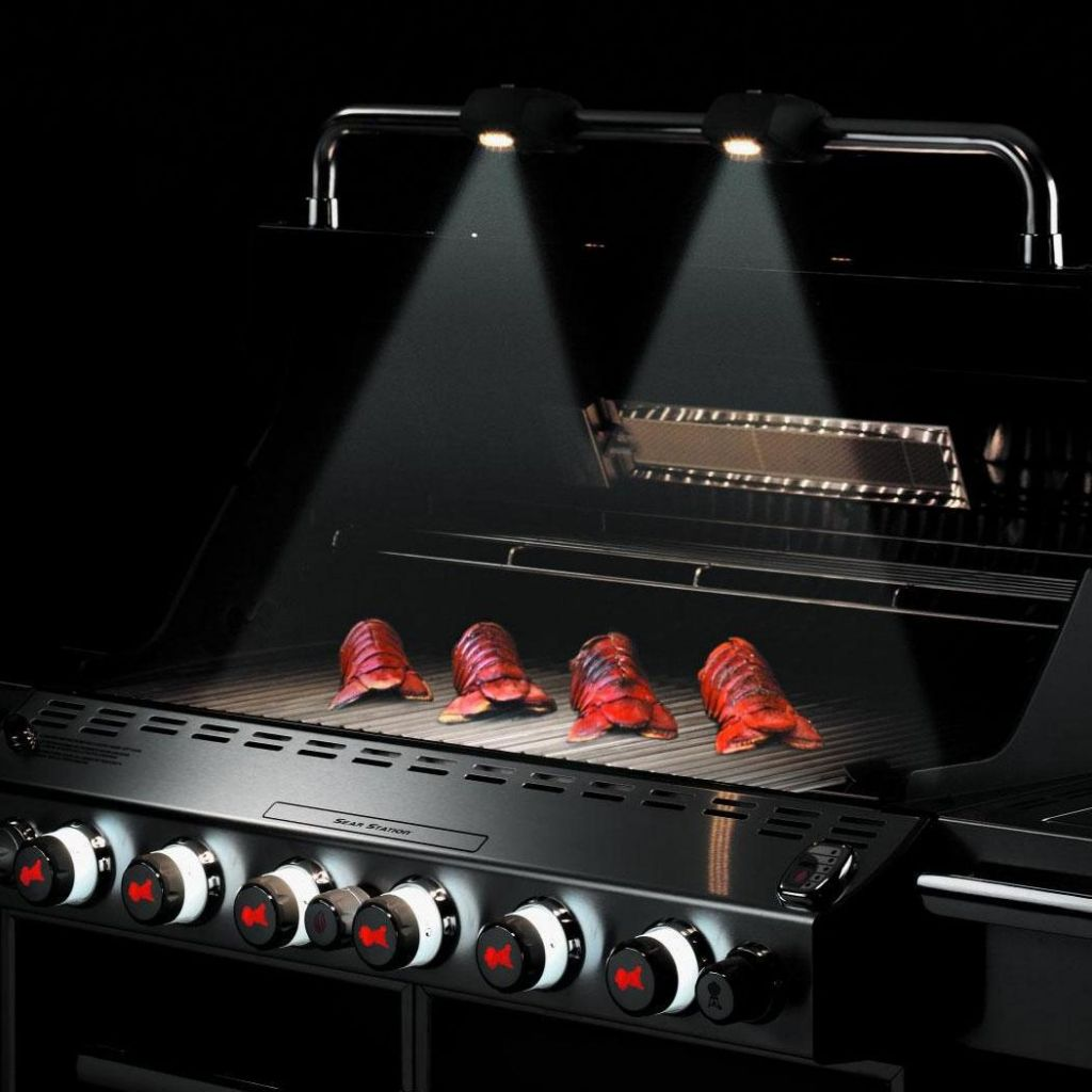 Weber summit s 670 gas grill stainless steel leisure living one or two handle lights offered on all weber summit gas grills aloadofball Choice Image