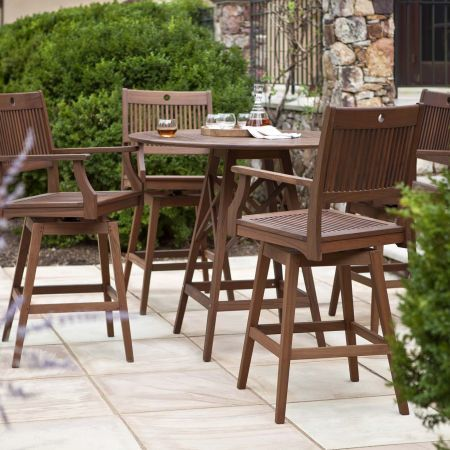 Opal-Hi-Dining-Swivel-Chairs-Shown with Opal Hi-Dining-Table
