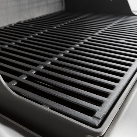 Porcelain-Enameled, Cast Iron Cooking Grates Provided On Select Weber Genesis II Gas Grills