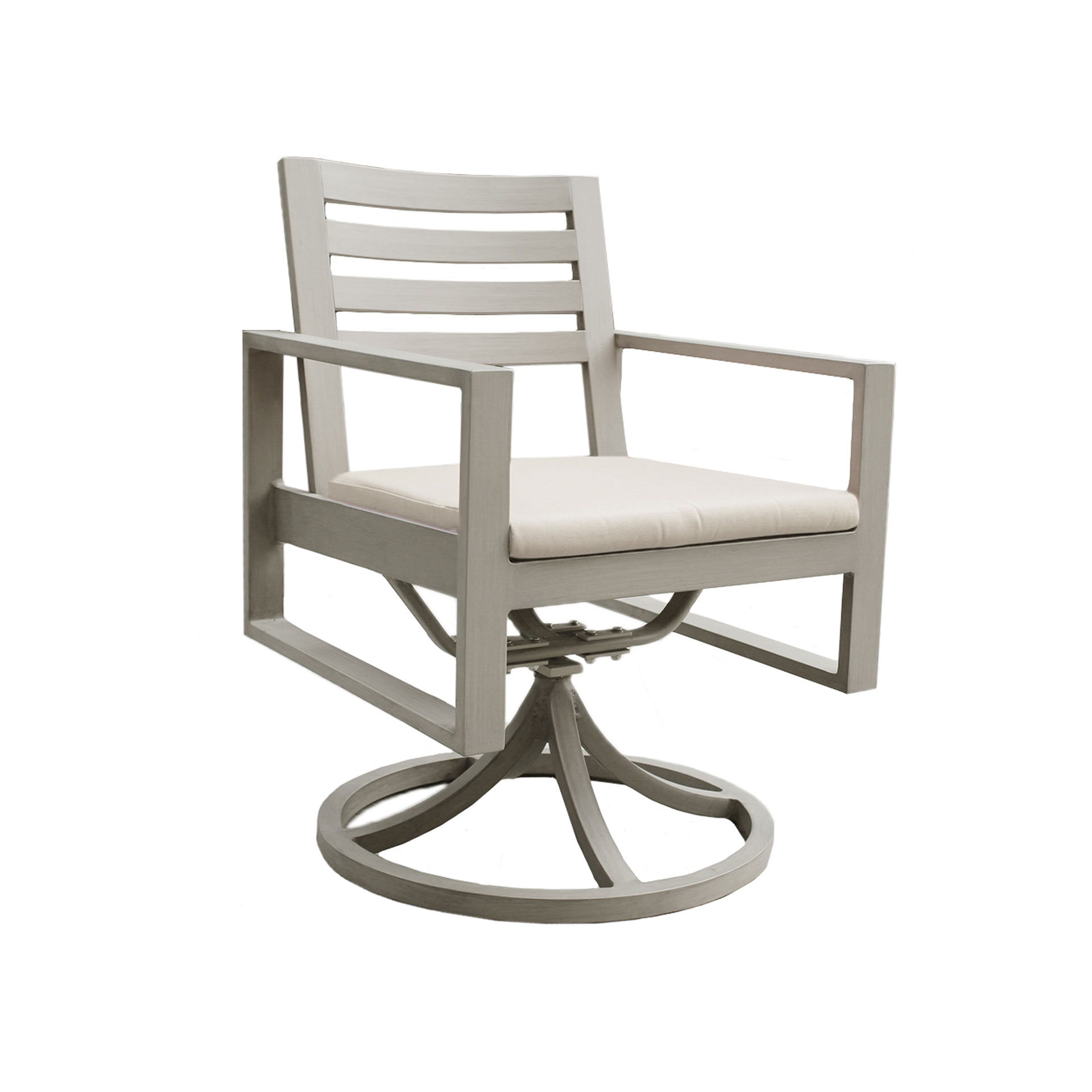 Ratana Park Lane Swivel Dining Arm Chair Leisure Living
