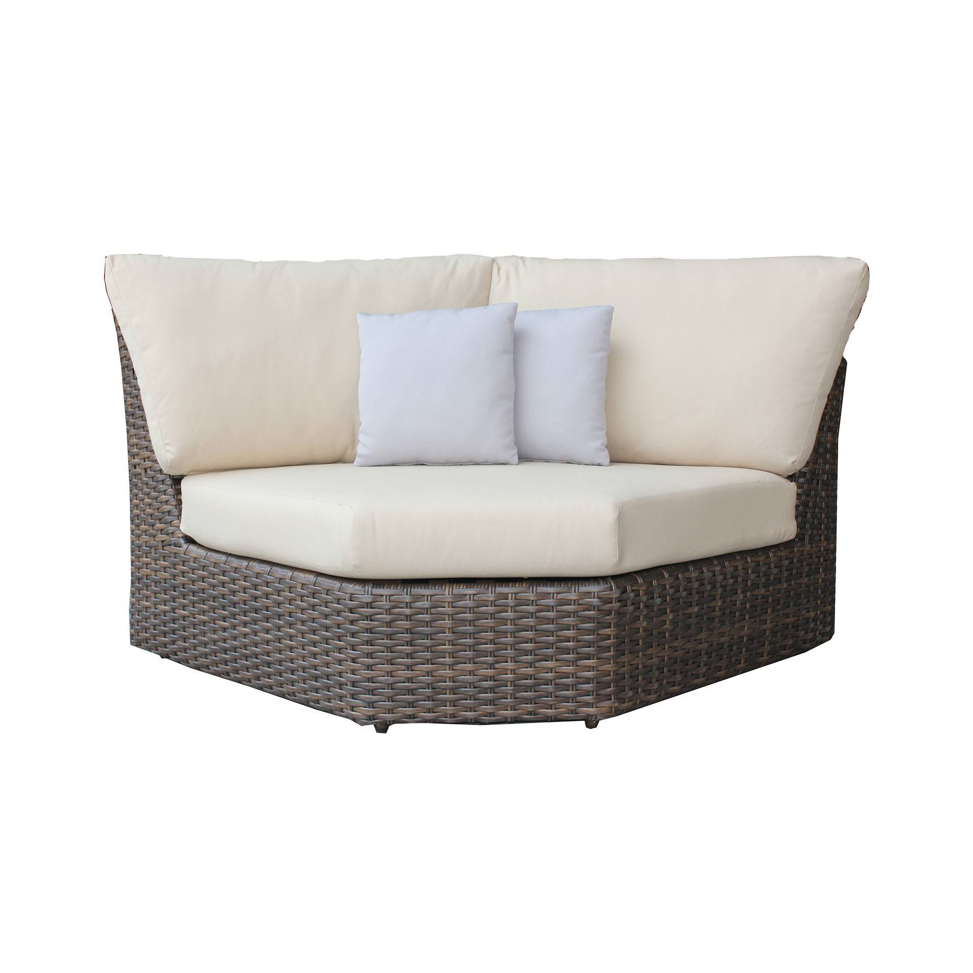 Ratana Portfino Sectional Curved Corner Chair Leisure Living