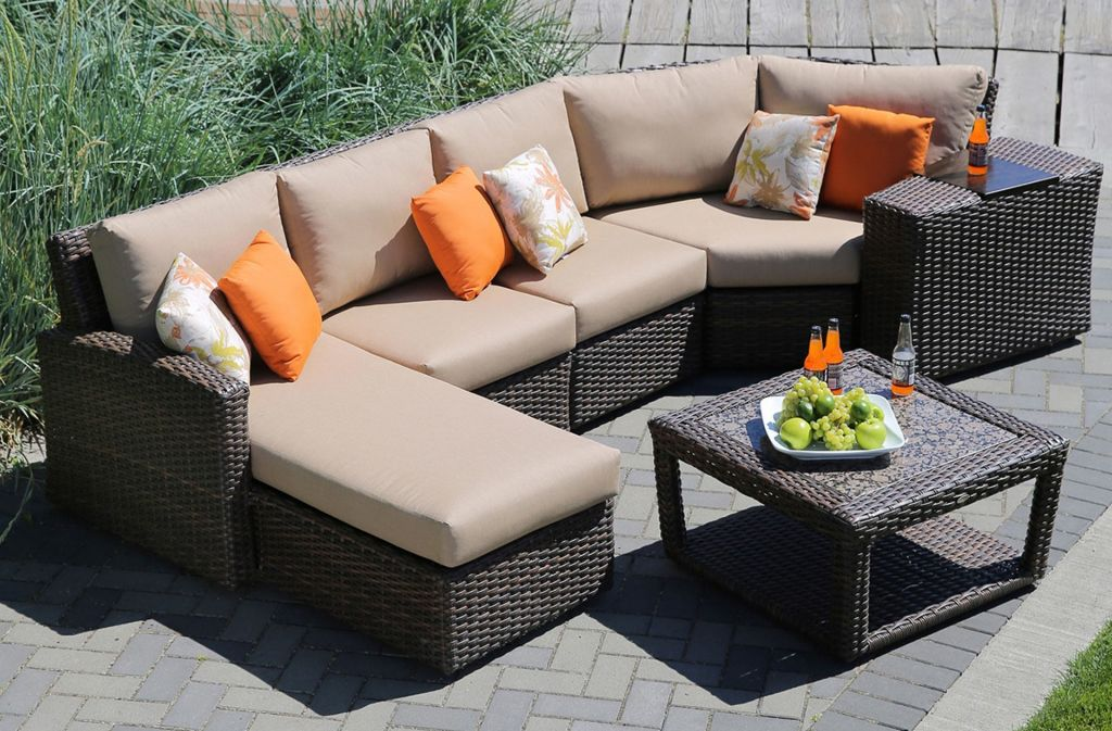 Ratana Portfino Sectional Shown With 1 Left Arm Chaise 2 Armless Chairs