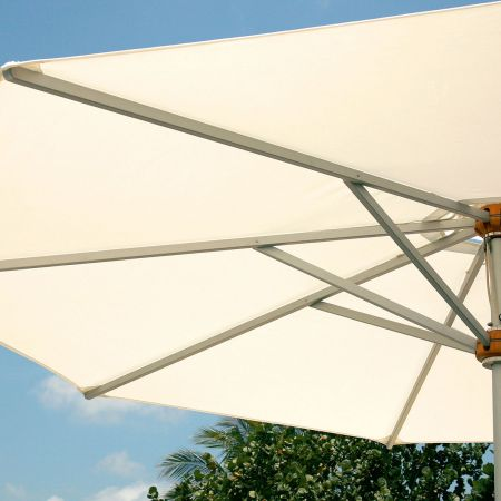 Reinforced Fabric Rib Pockets On The Barlow Tyrie 13' Pulley Lift Umbrella