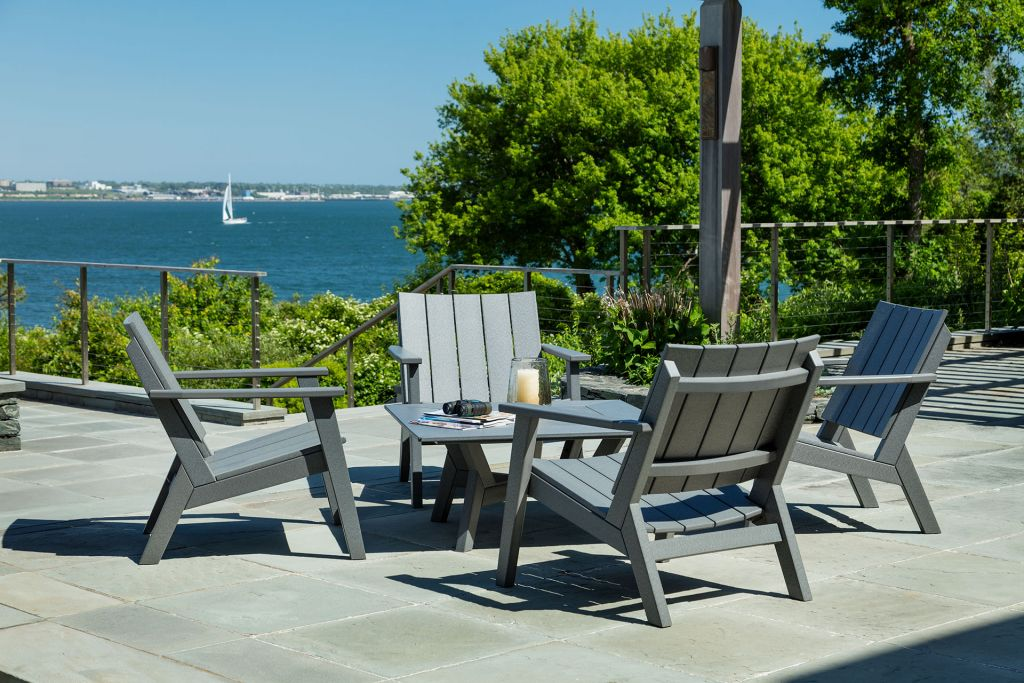 ... Chairs; Seaside Casual Mad Fusion 5 Piece Charcoal Chat Set ...