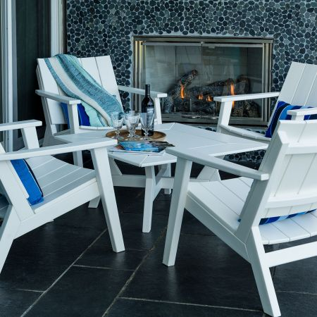 Seaside Casual Mad Fusion 5 Piece White Chat Set