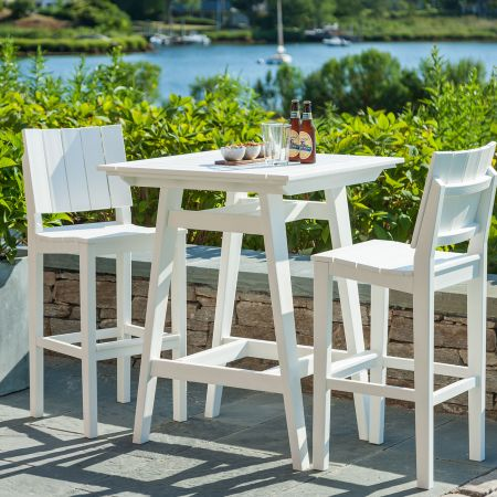 Seaside Casual Mad Fusion White 3 Piece Balcony Set.