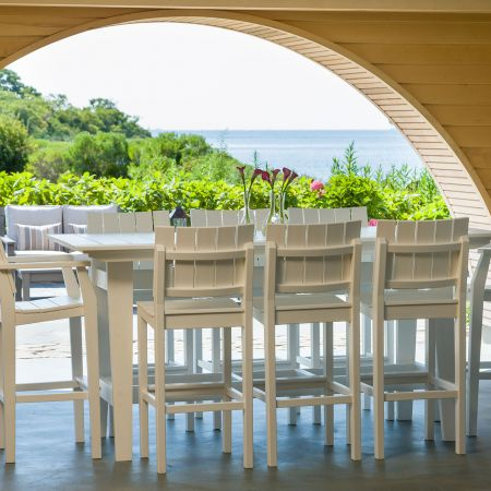 Seaside Casual Mad Fusion White 9 Piece Balcony Set.