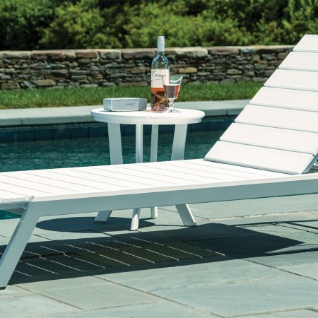Mad Fusion White And Grey Chaise Poolside