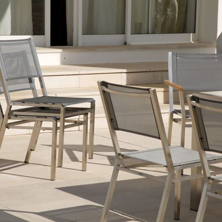 Stacking Feature Of The Barlow Tyrie Equinox Dining Side Chair