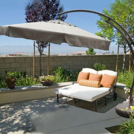 Sun Garden 11.5' Easy Sun Free Standing Umbrella Lifestyle