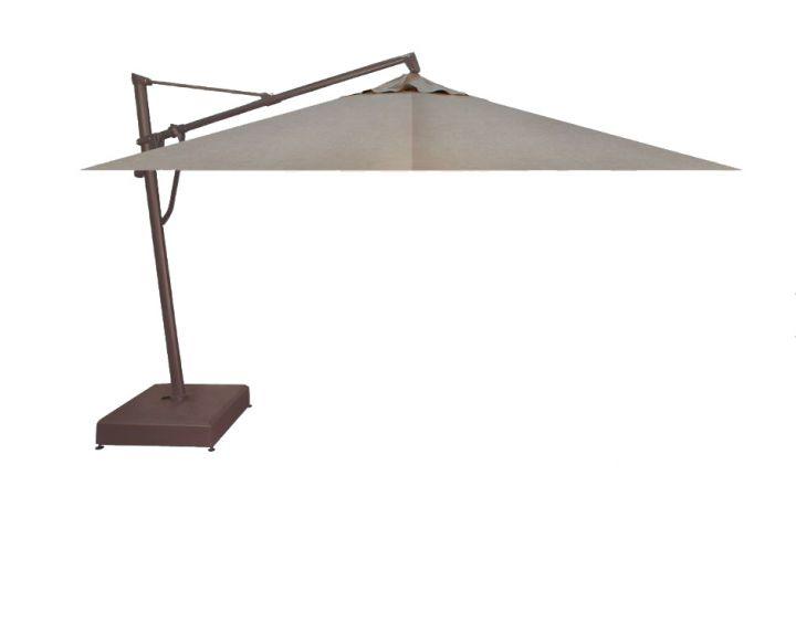 Treasure Garden 10X13′ Rectangular Plus Cantilever Umbrella – Cast Ash