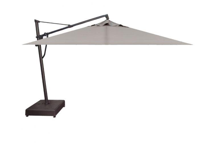 Treasure Garden 10X13′ Rectangular Plus Cantilever Umbrella – Spectrum Dove
