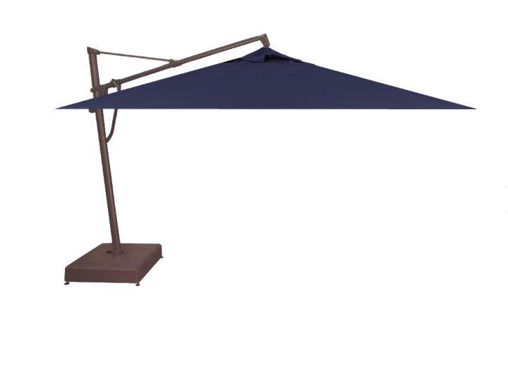 Treasure Garden 10X13′ Rectangular Plus Cantilever Umbrella – Spectrum Indigo