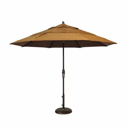 Treasure Garden 11' Auto Tilt Market Umbrella Open