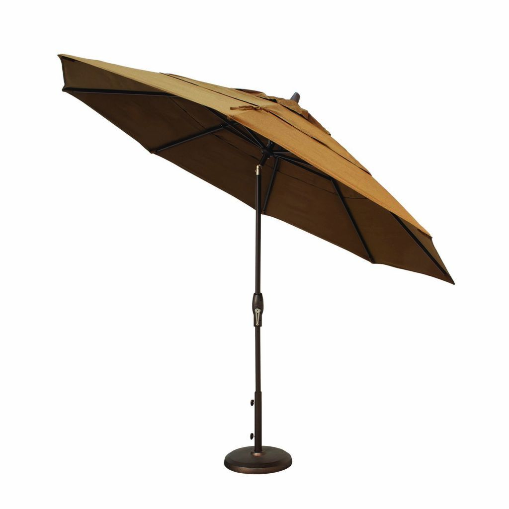 Treasure Garden 11u0027 Auto Tilt Market Umbrella Tilted ...