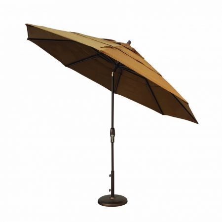 Treasure Garden 11' Auto Tilt Market Umbrella Tilted