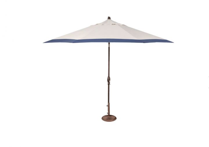 Treasure Garden 11′ Auto Tilt Umbrella – Canvas with Neptune Border