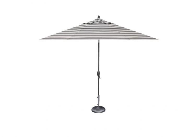 Treasure Garden 11′ Auto Tilt Umbrella – Kinzie Smoke Stripe