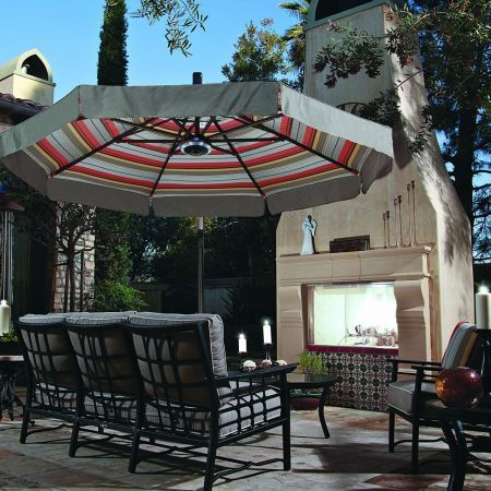 Treasure Garden 11' Cantilever Freestanding Umbrella Lifestyle