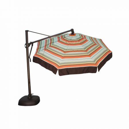 Treasure garden 11 39 cantilever freestanding umbrella leisure living for Treasure garden cantilever umbrella 13