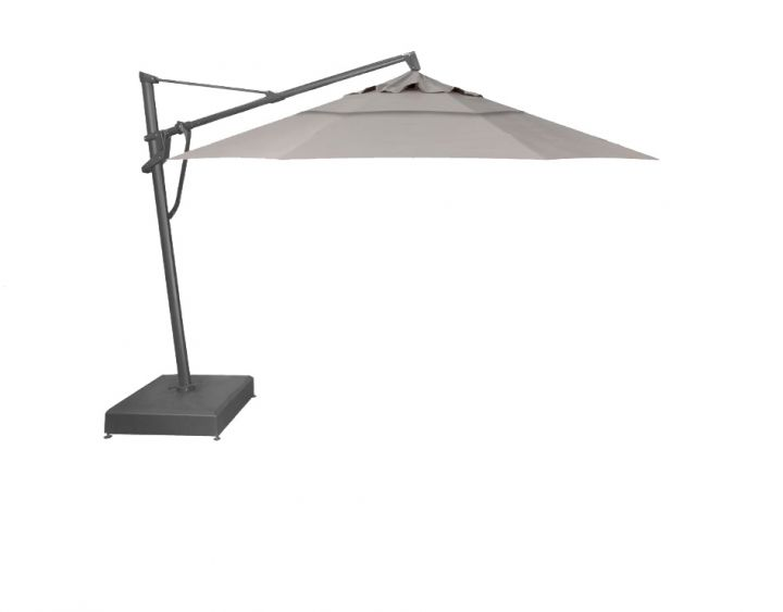 Treasure Garden 13′ Plus Cantilever Umbrella- Spectrum Dove