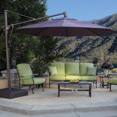 Treasure Garden 13' Cantilever Freestanding Umbrella Lifestyle