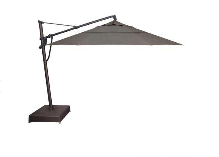 Treasure Garden 13′ Plus Cantilever Umbrella – Cast Slate