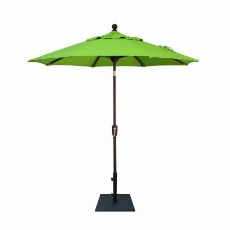 Treasure Garden 7.5' Push Button Tilt Market Umbrella Open