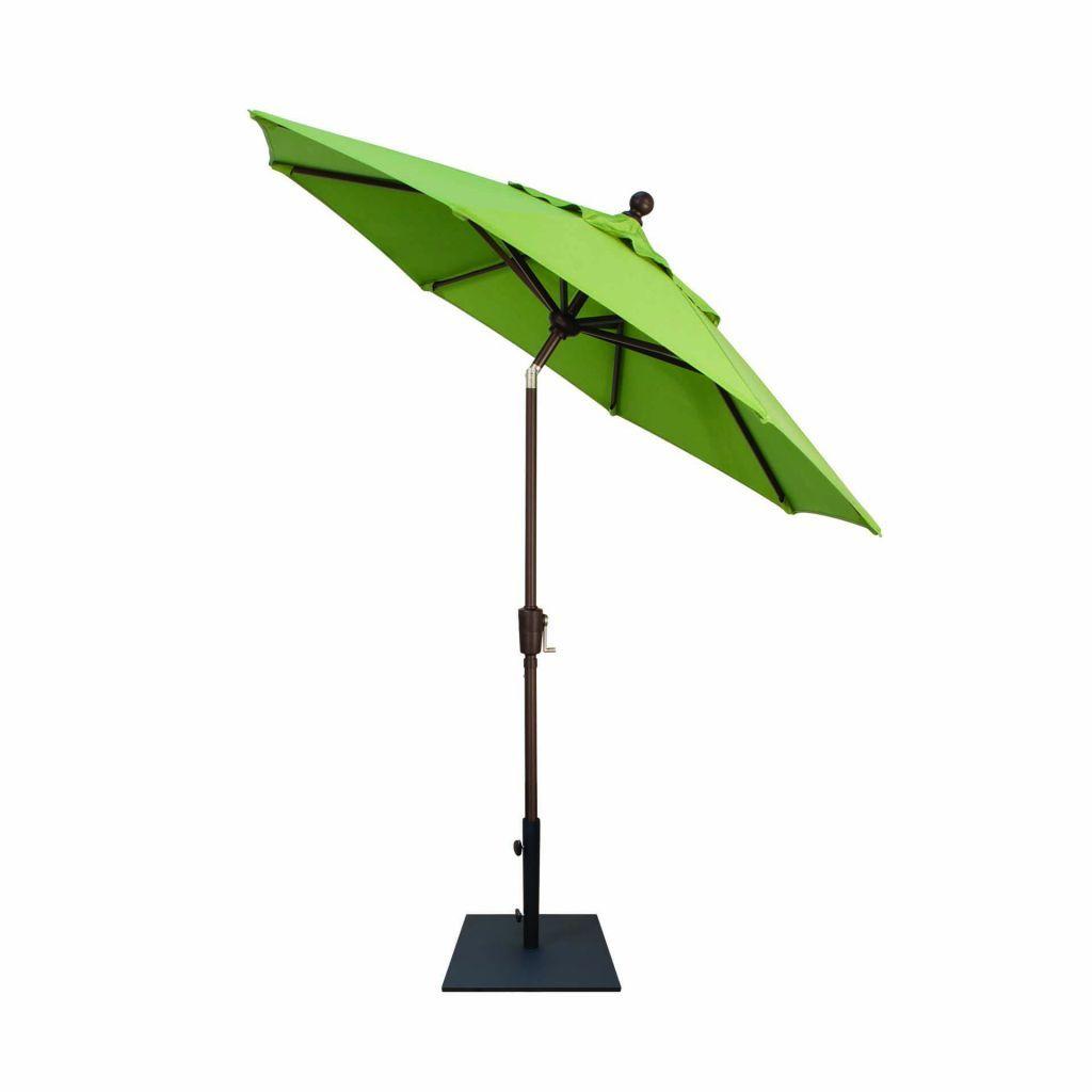 Treasure Garden 7.5u0027 Push Button Tilt Market Umbrella Tilted ...