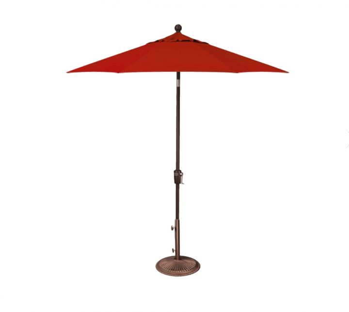 Treasure Garden 7.5′ Push Button Tilt Umbrella – Jockey Red