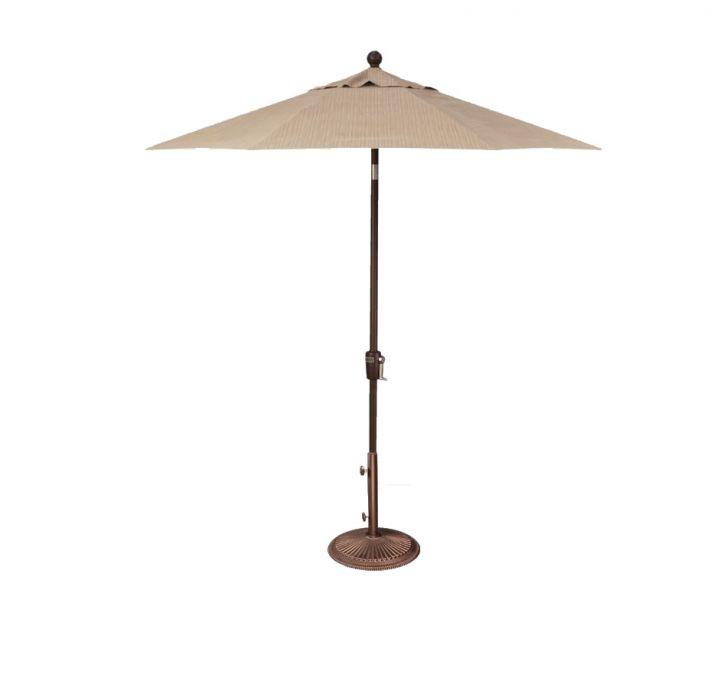 Treasure Garden 7.5′ Push Button Tilt Umbrella – Taupe Rib