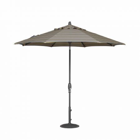 Treasure Garden 9' Auto Tilt Market Umbrella Open