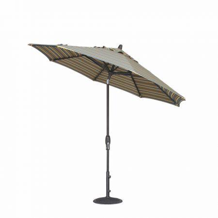 Treasure Garden 9' Auto Tilt Market Umbrella Tilted