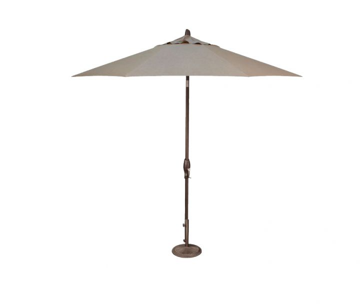 Treasure Garden 9′ Auto Tilt Umbrella – Cast Ash