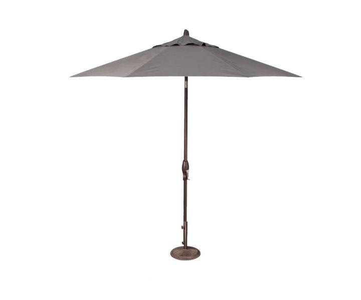 Treasure Garden 9′ Auto Tilt Umbrella – Charcoal