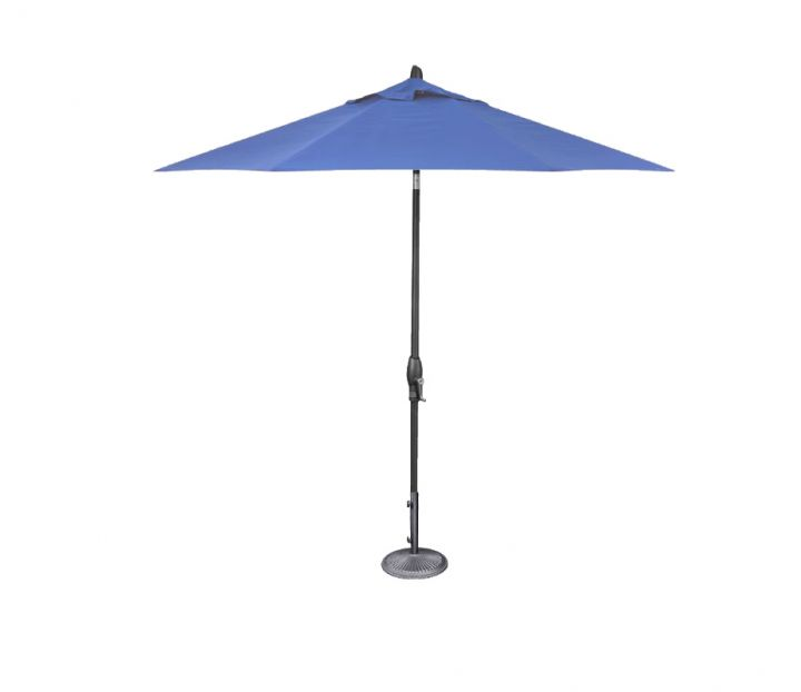 Treasure Garden 9′ Auto Tilt Umbrella – Sky Blue