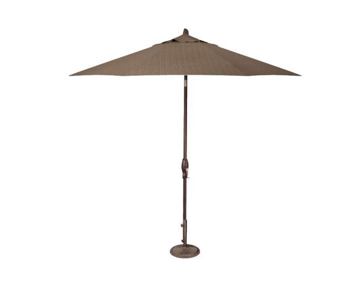 Treasure Garden 9′ Auto Tilt Umbrella – Dupione Walnut