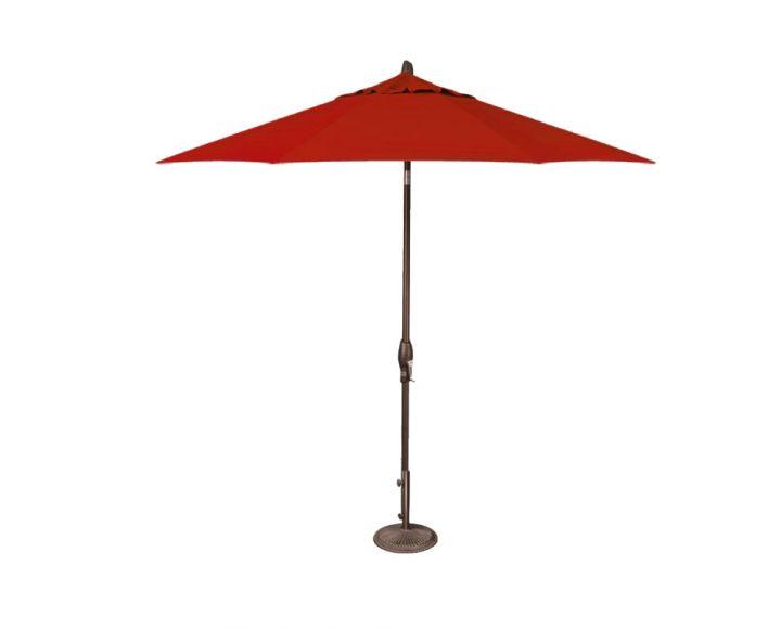 Treasure Garden 9′ Auto Tilt Umbrella – Jockey Red