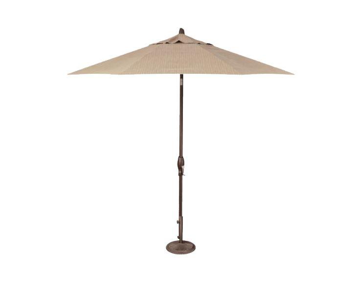 Treasure Garden 9′ Auto Tilt Umbrella – Taupe Rib