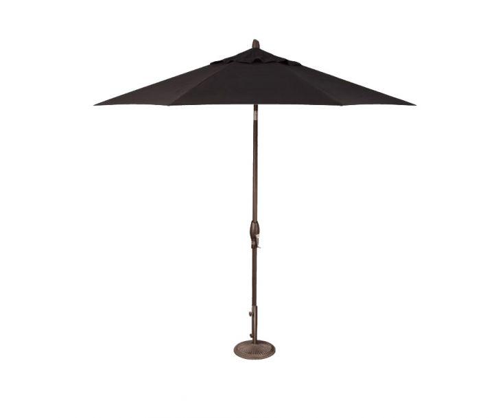 Treasure Garden 9′ Auto Tilt Umbrella – Black